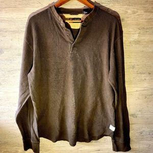 Chaps Ralph Lauren Thermal Knit Henley Shirt.